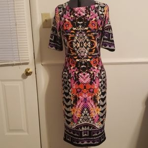 Gabby Skye Graphic Print Dress